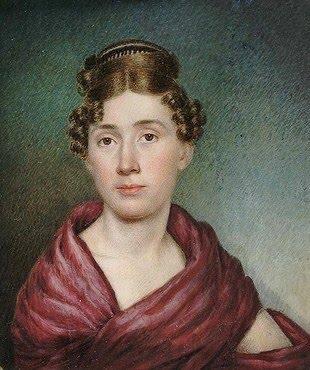 Sarah Goodridge Goodrich (American miniaturist, 1788-1853) Self-Portrait ca. 1825