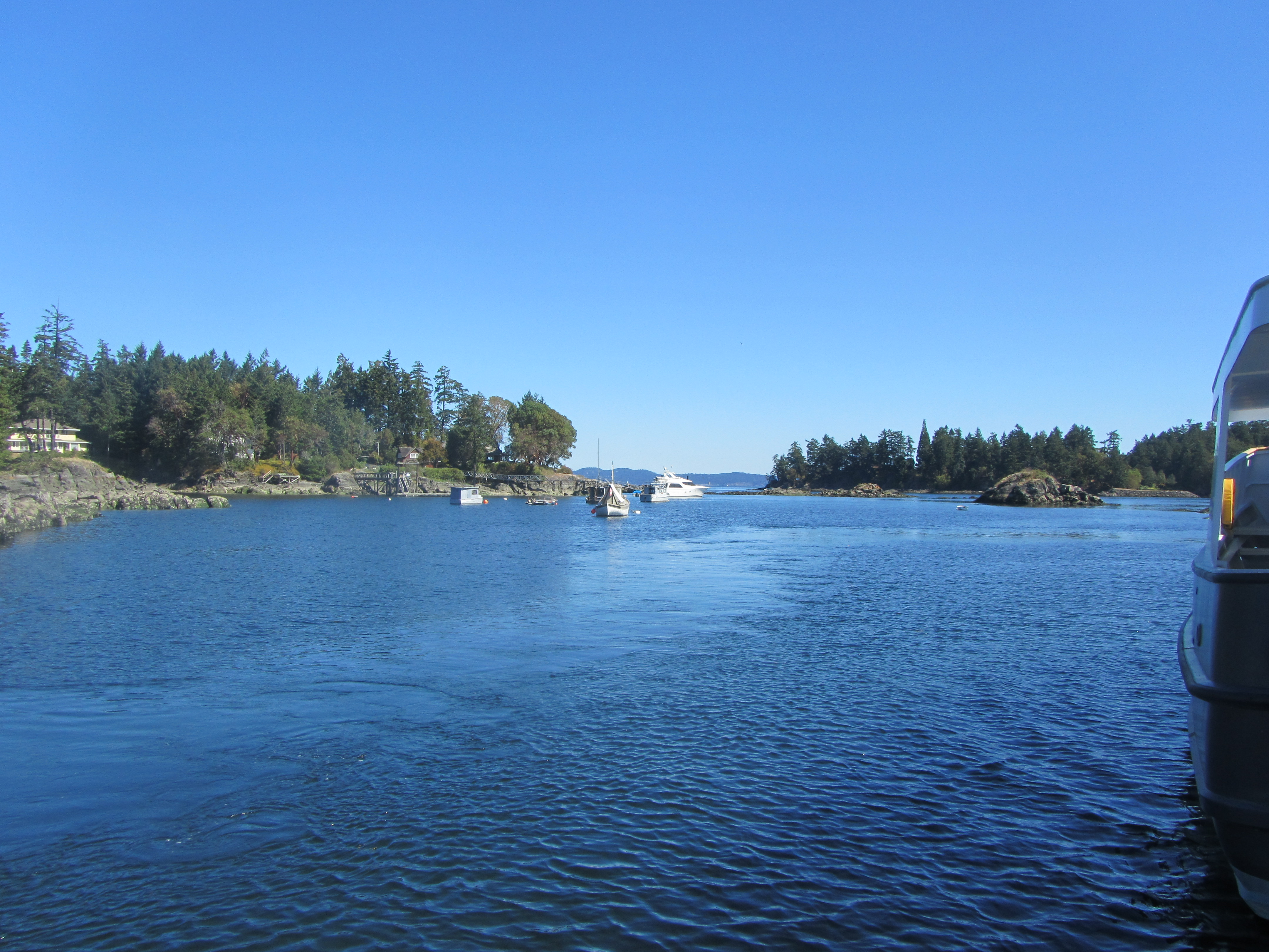 View from Canoe Cove dock, in direction of Active Pass