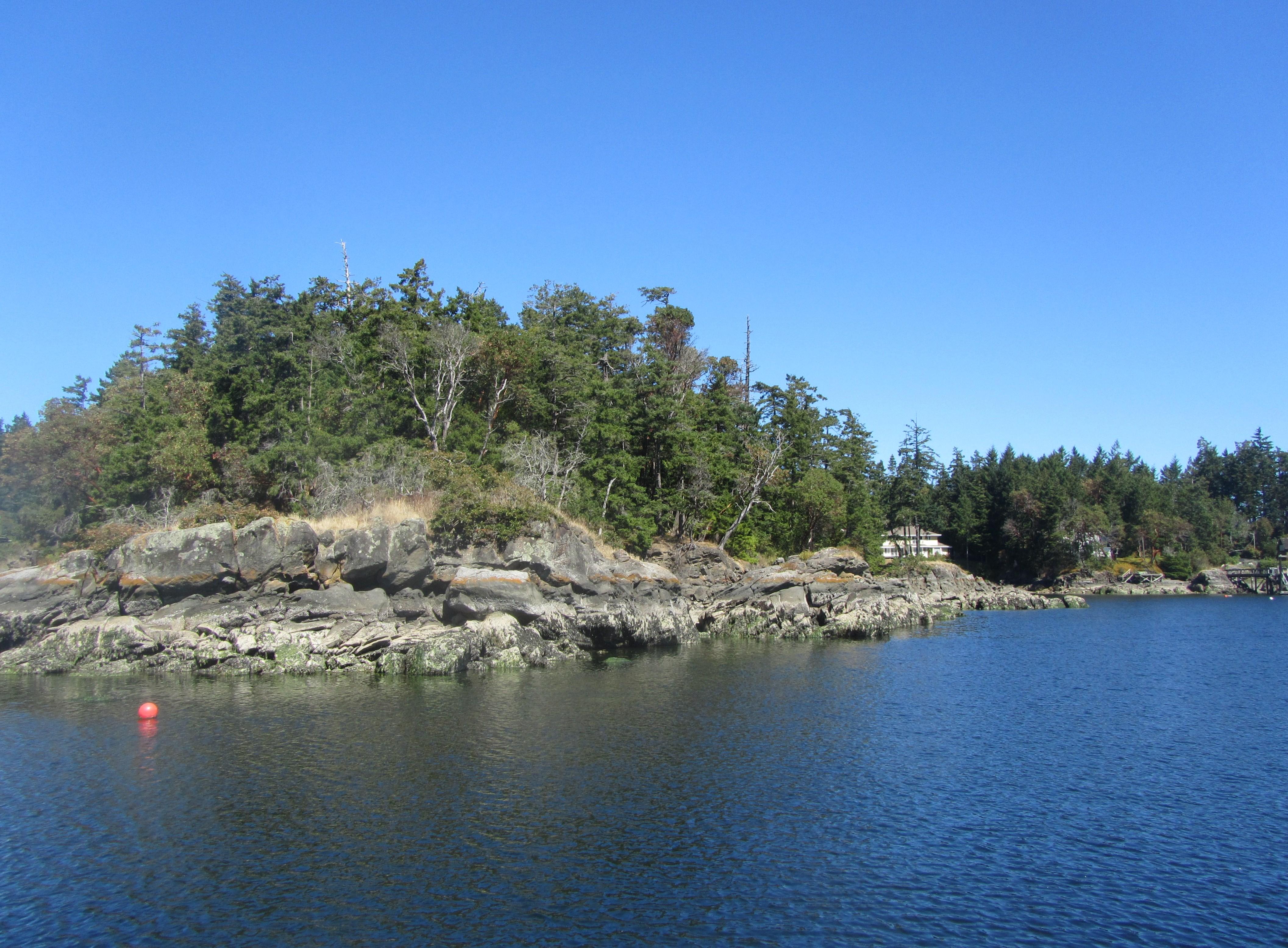 Canoe Cove - view across from 'Nereida'
