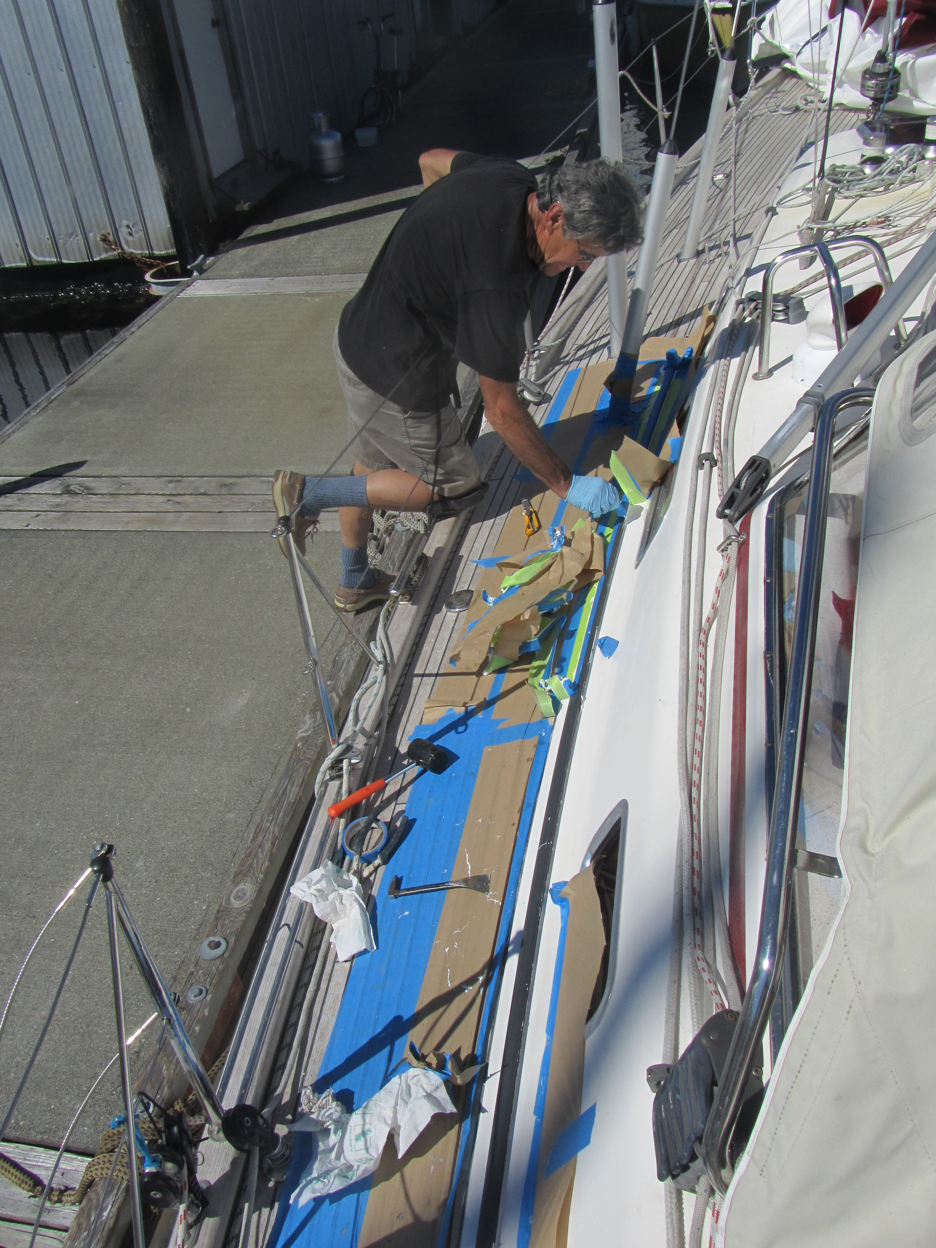 Glenn working on genoa track