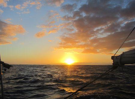 Sunset in Tasman Sea 11Apr2013