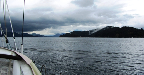 View up Howe Sound, past Gambier Island