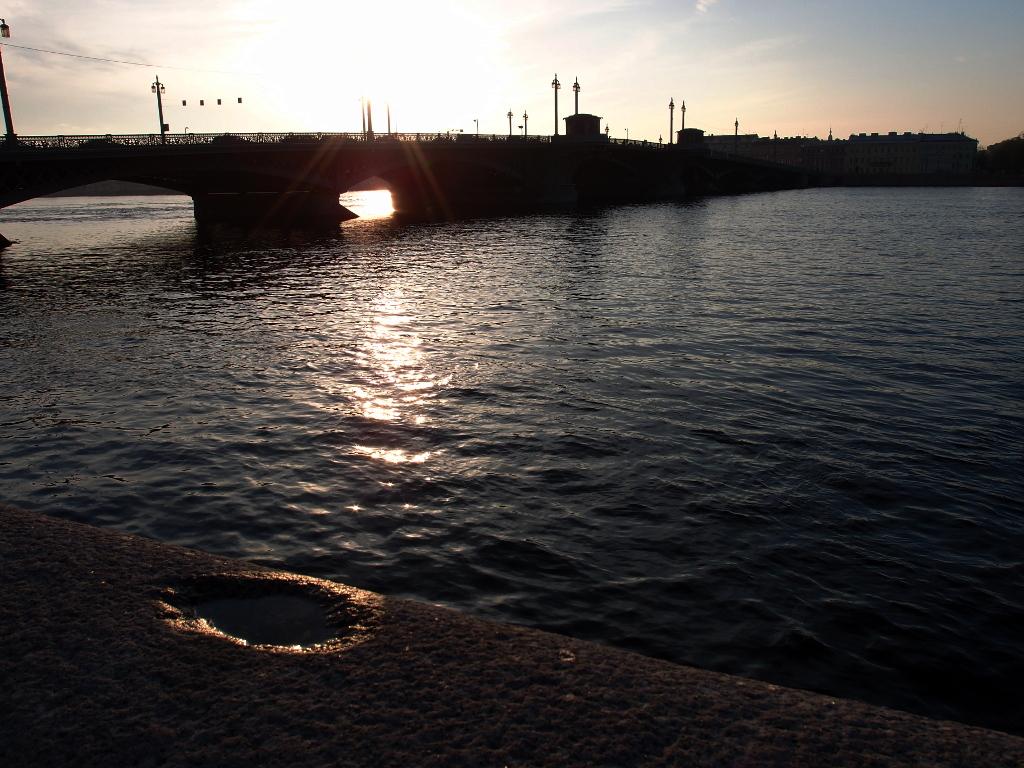 Благовещенский мост закат