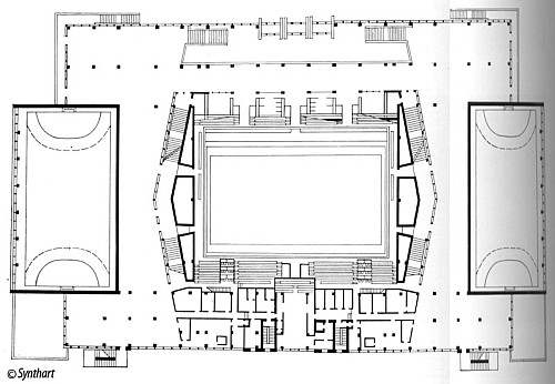 Здание Дворца спорта