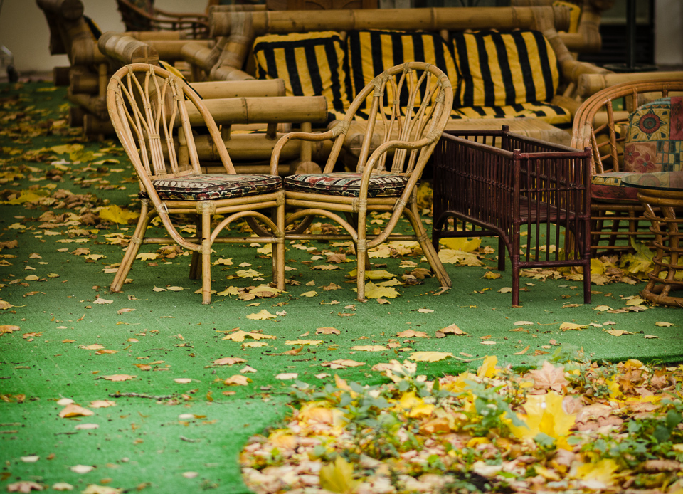 Осень в летнем кафе