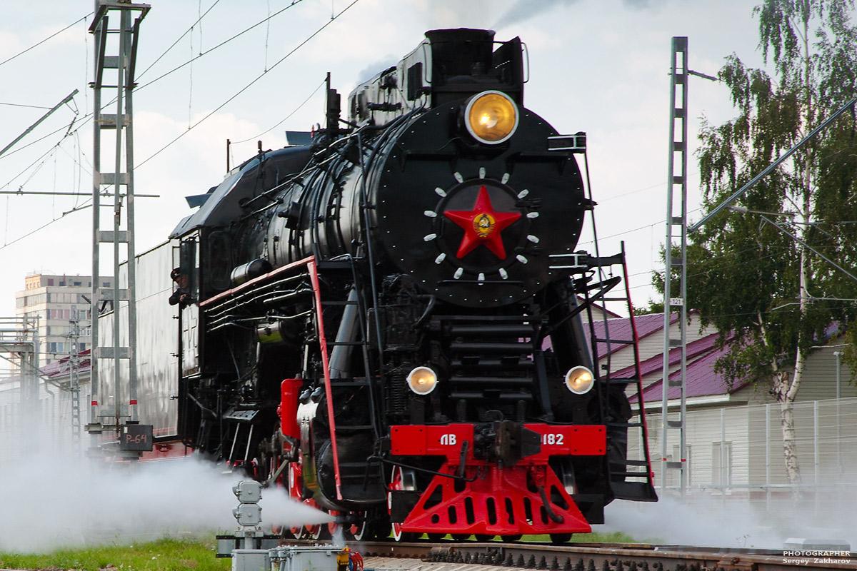 Паровоз ЛВ. Фотограф Сергей Захаров