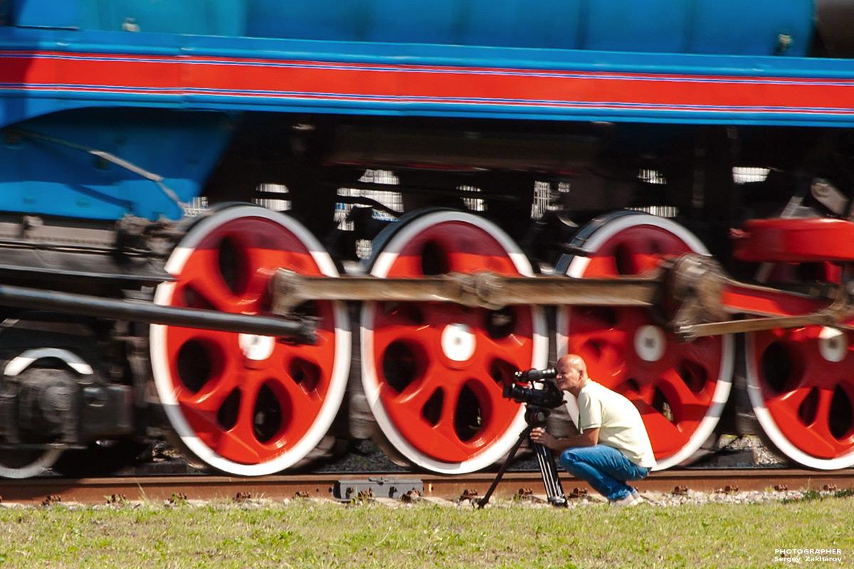 Паровоз П36. Фотограф Сергей Захаров