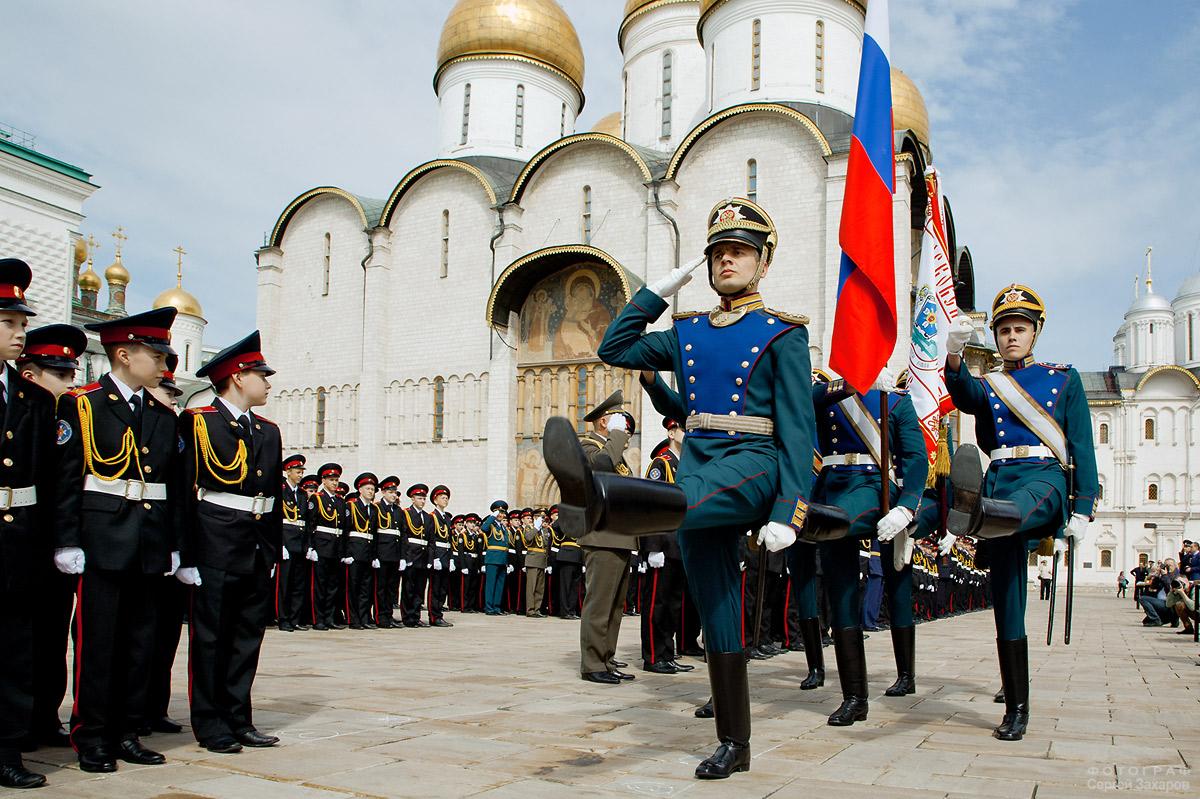 Знаменная группа Президентского полка. Фотограф Сергей Захаров