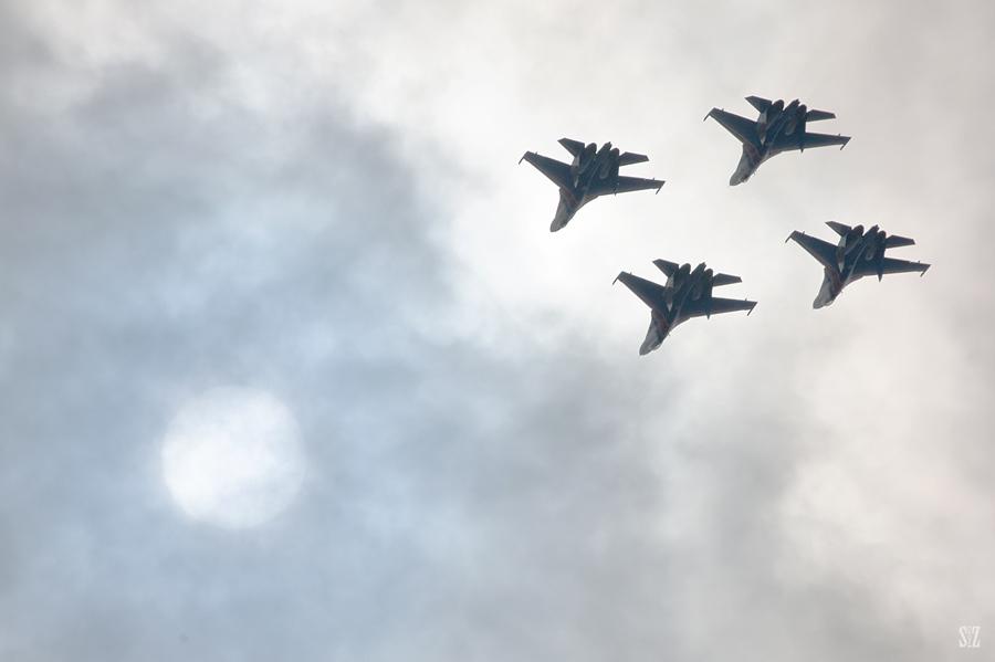 Су-27. Русские Витязи. Фотограф Сергей Захаров