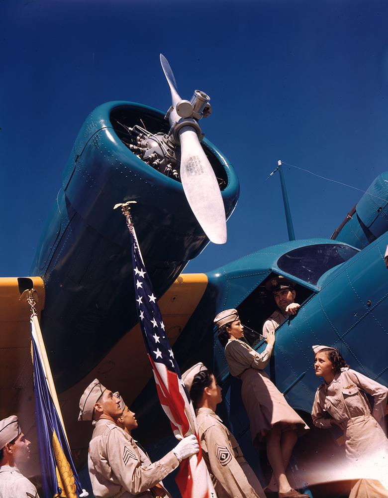 [Airmen and women with Grumman G-21 Goose, Puerto Rico]