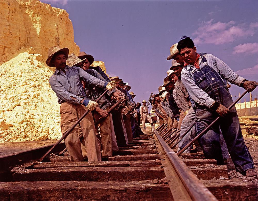 [Workers Adjusting Railroad Tracks, Texas Gulf Sulphur Company]