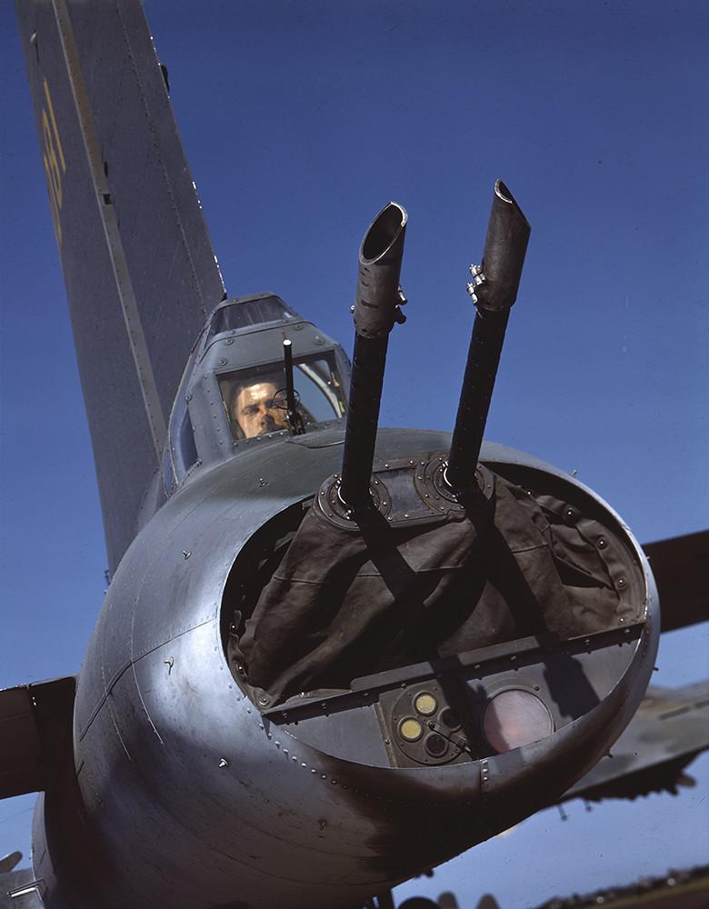 [Tail Gunner in Boeing B-17 Flying Fortress, World War II]