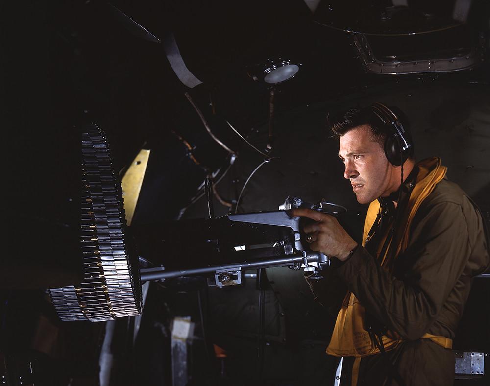 [Waist Gunner in Boeing B-17 Flying Fortress, World War II]