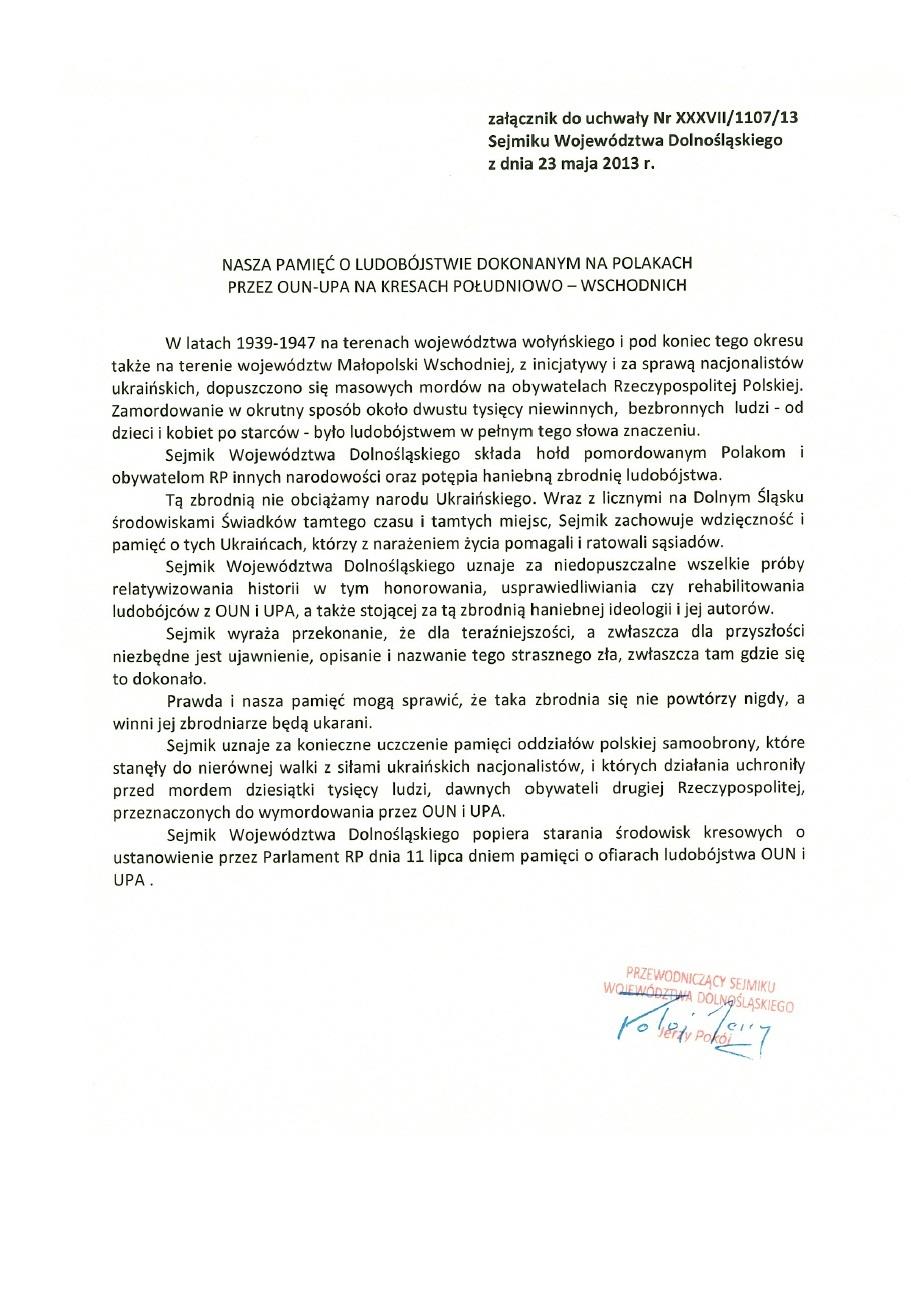 Uchwala Nr XXXVII-1107-13 Sejmiku Wojewodztwa Dolnoslaskiego. S. 2