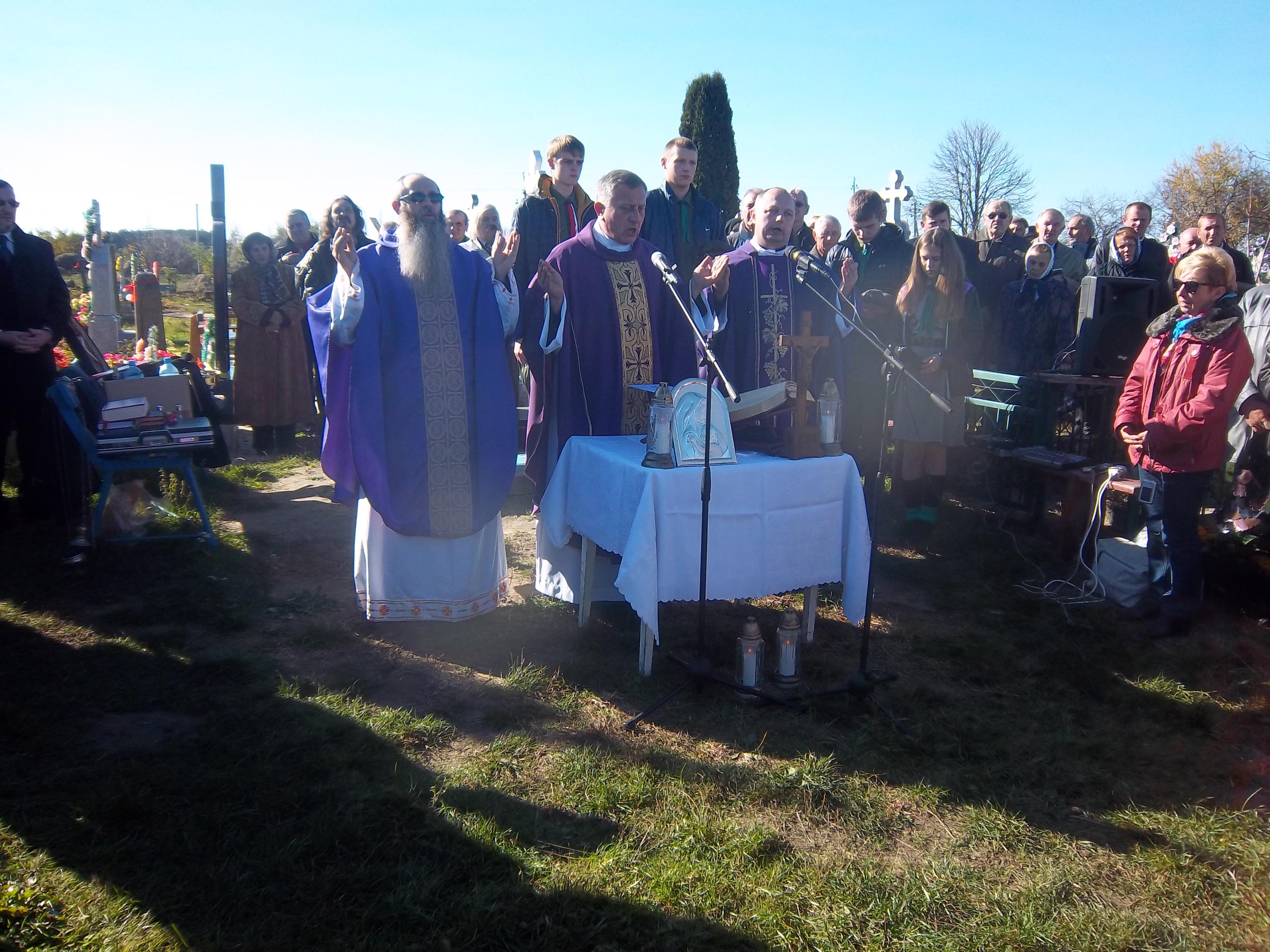 Богослужение проводили 3 священника из города Хелм