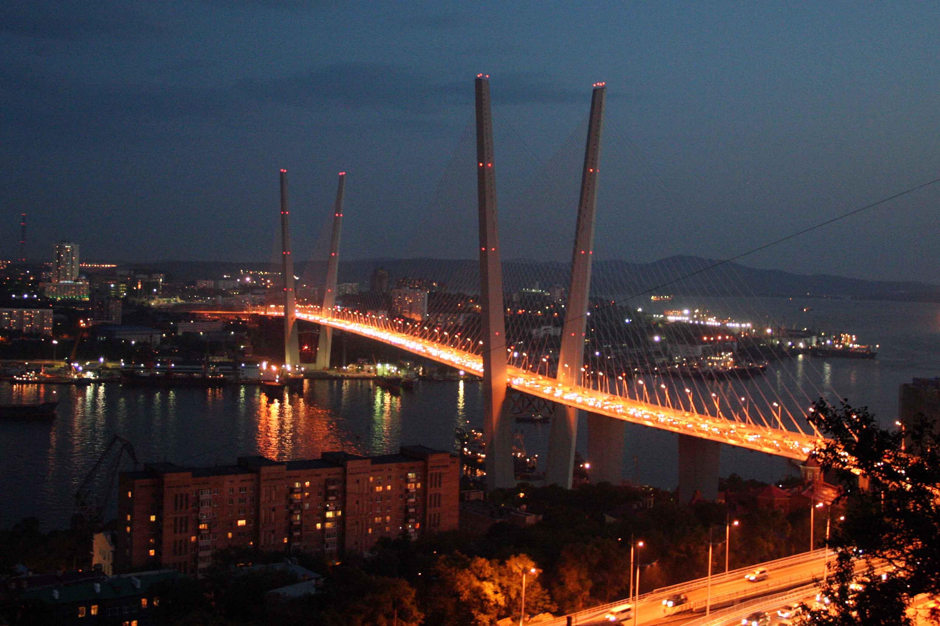 картинка мост ночью владивосток прекрасный отель города
