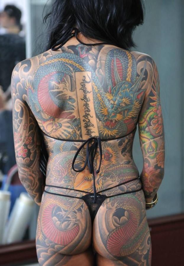Naked female tattoo design