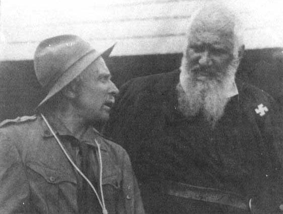 Лидер украинских униатов Шептицкий в скаутском лагере накануне Второй Мировой