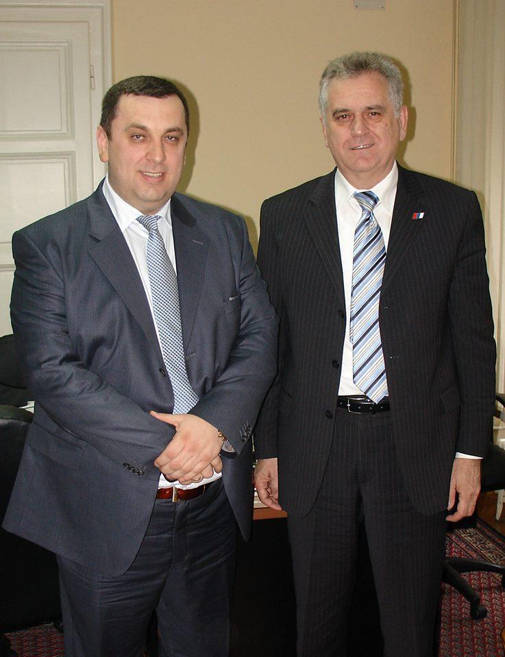 Председатель Станоевич с президентом Николичем