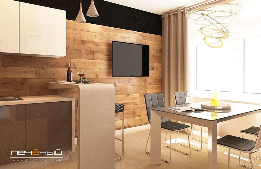 Дизайн стен с ламинатом