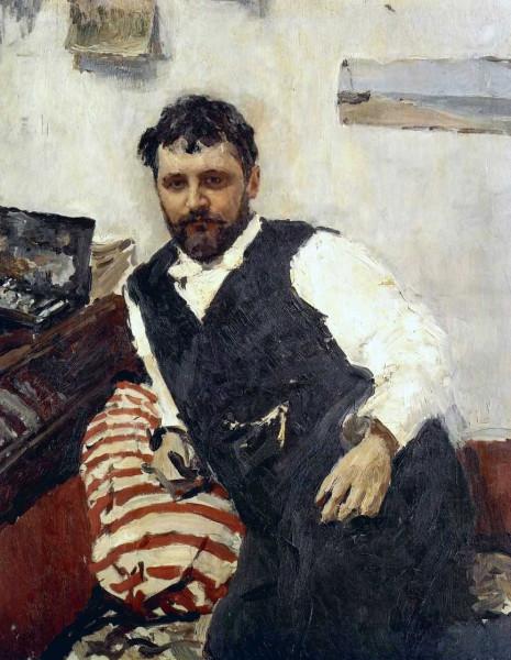 Валентин Серов, портрет Константина Коровина-1891
