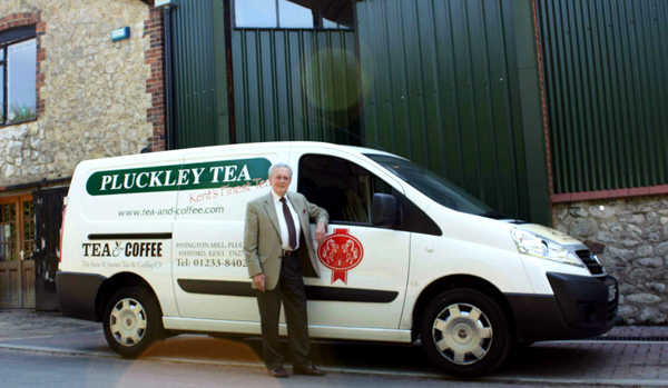 Ron with his van ready to make deliveries