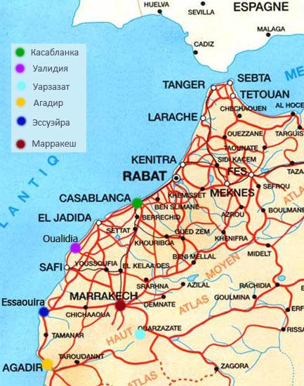 Карта Марокко 2012