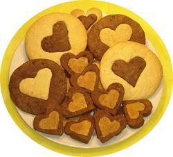 печенье шоколадное сердце