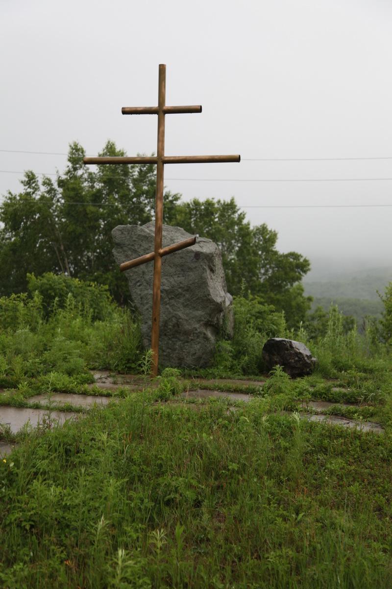 Поклонный Крест в центре п. Ольга