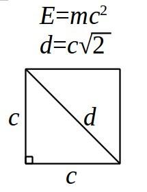 диагональ квадрата скорости света
