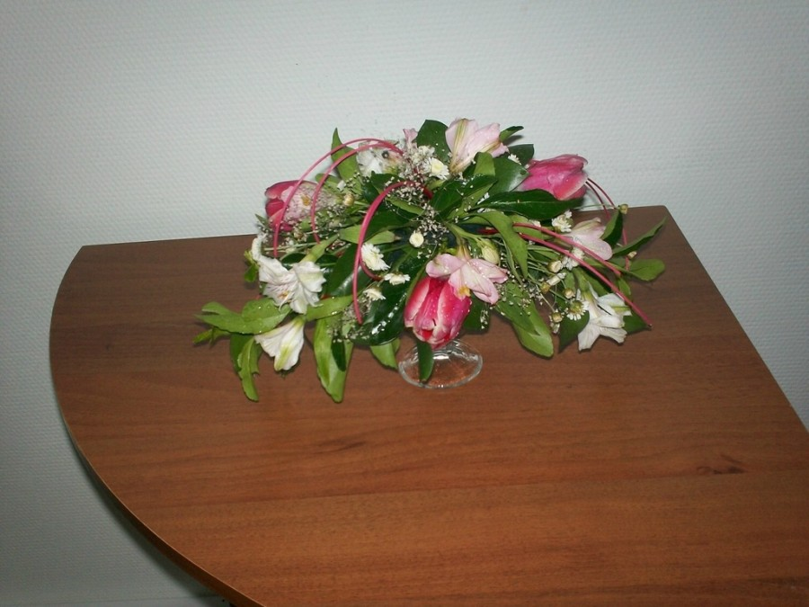 тюльпаны_альстромерия