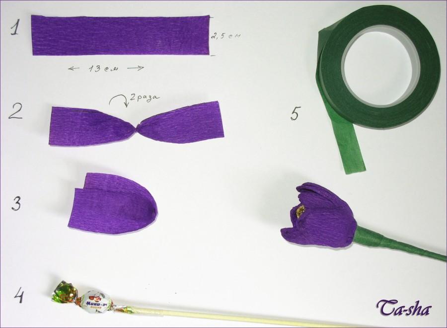 Крокус из бумаги своими руками пошаговое фото