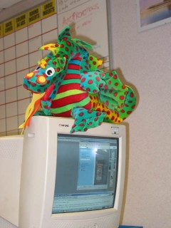 Mr Dragon goes to work