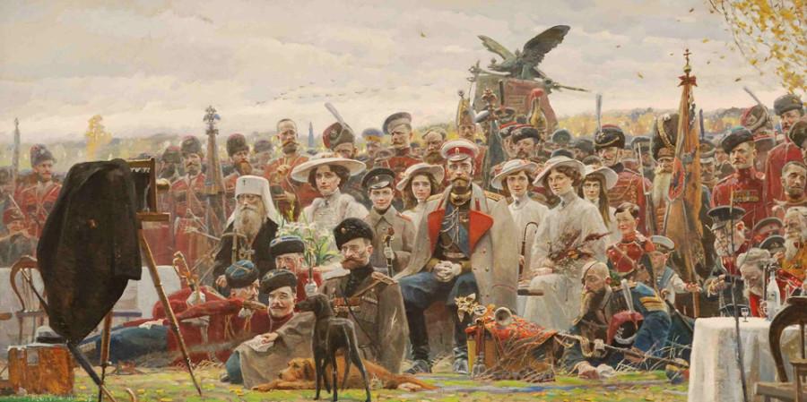 Художник Павел Рыженко. Фотография на память (№2 из Триптиха «Русский век»). 2007 г..jpg