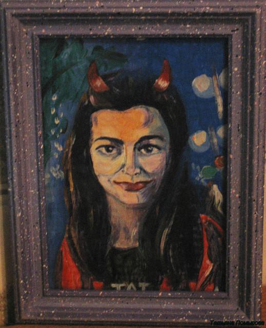 портрет меня кисти Танечки levinski в рамочке