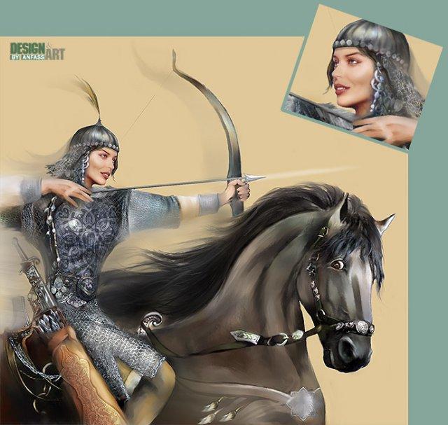 Amazonka_Tata - Мой жанровый портрет кисти чудесной Вероники Анфимовой