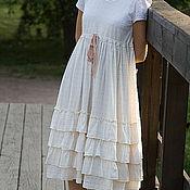 Белое платье Бохо