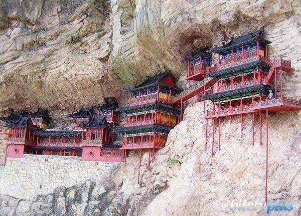 5 b Висячий монастырь Сюанькун-сы, Китай