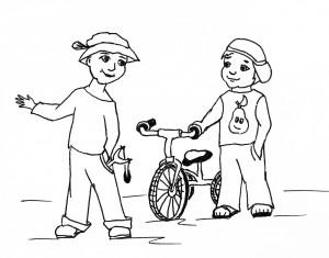Раскраска помощь друзьям