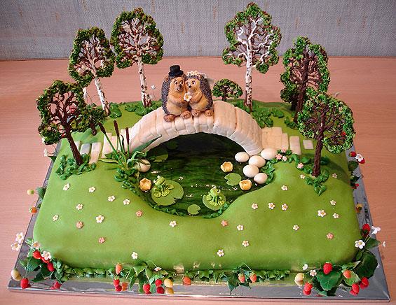 Необычные свадебные торты было бы