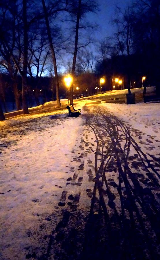 Людей  в будние дни в парке мало, особенно к вечеру.