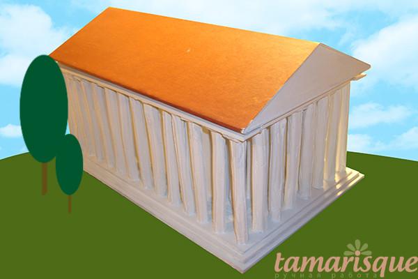 мастер-класс макет парфенона храм афины