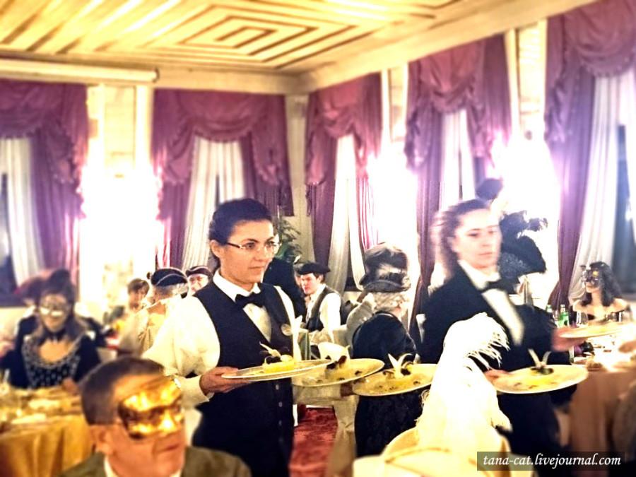 Ужин на балу в Hotel Danieli