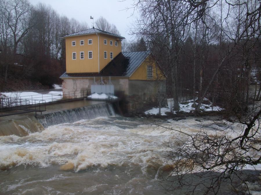 Штаб советской военной базы в финском замке...