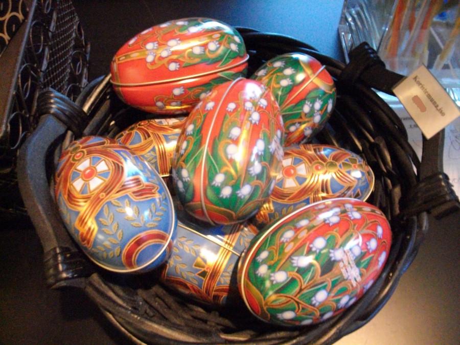 Пасхальные яйца в ювелирном исполнении