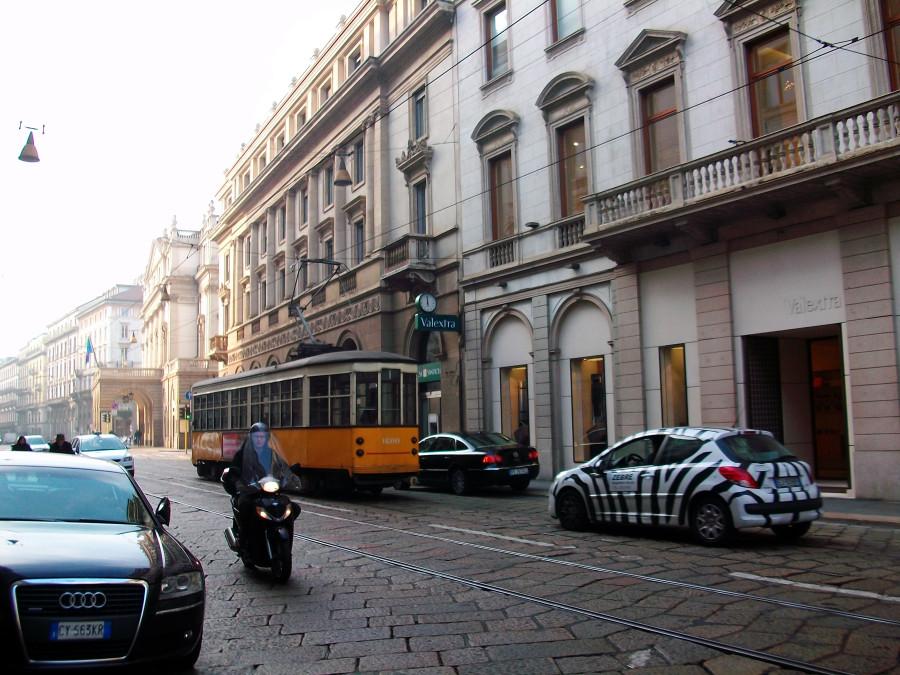 Ретро трамвай в Милане