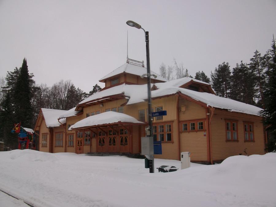 Старый вокзал в Лусто