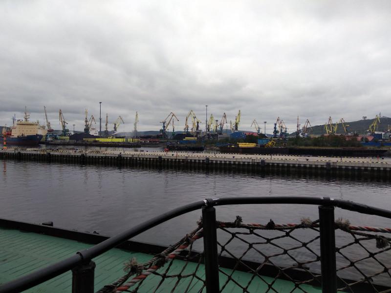 Залив с борта ледокола Ленин