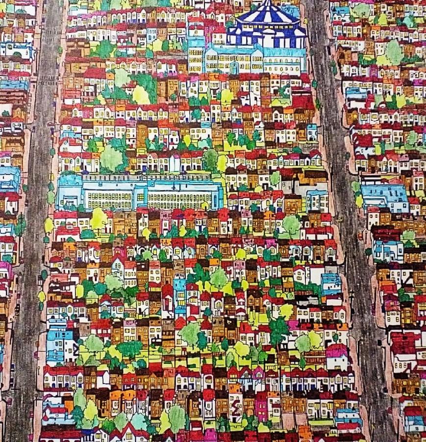 Раскраска Стива Макдональда - Удивительные города