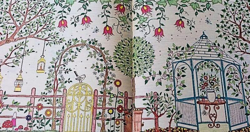 Раскраска Джоанны Бэсфорд - Таинственный сад